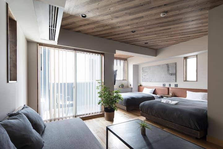 东京|银座区域|酒店,饭店|迪斯尼直达|大号床(最多5个人), 免费Wi-Fi