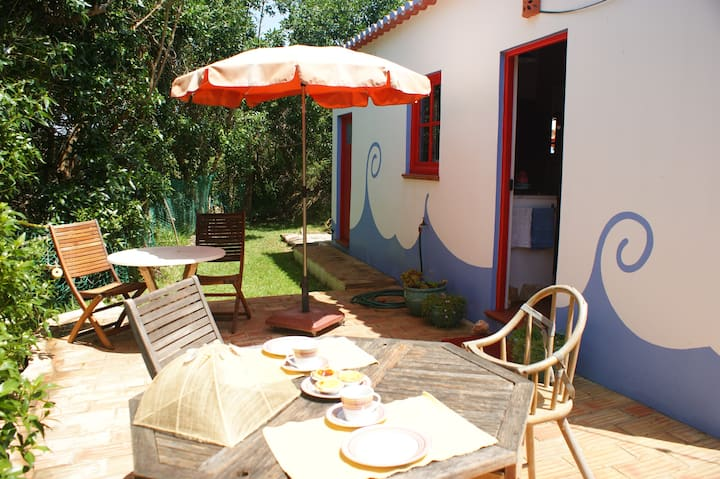 Cottage in Carrapateira. Garden and ocean views!
