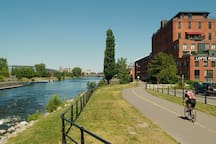 Parc, canal et centre-ville !