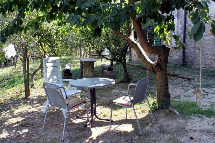 Studio flat with terrace Grožnjan, Central Istria - Središnja Istra (AS-7038-a)