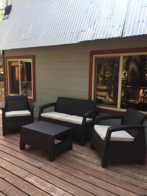 Deck with lounge furniture