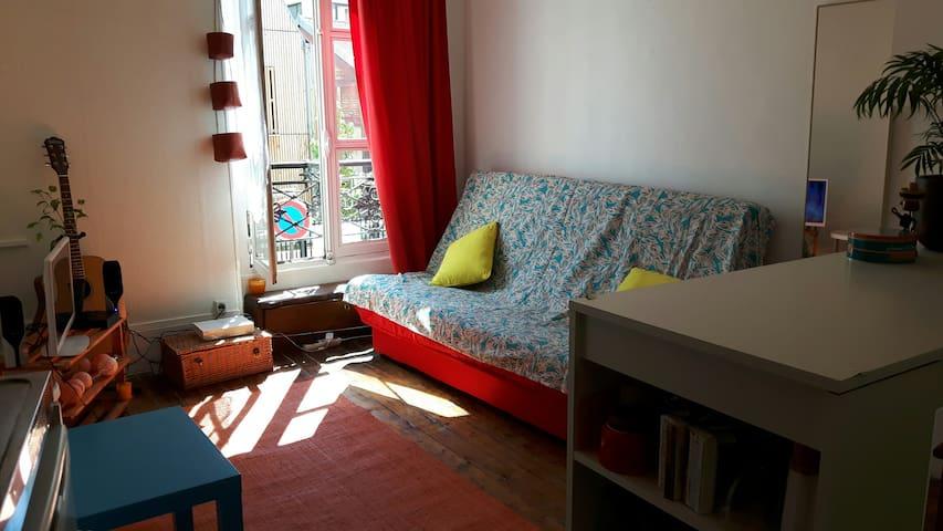 Studio cosy a menilmontant - Paris - Apartemen