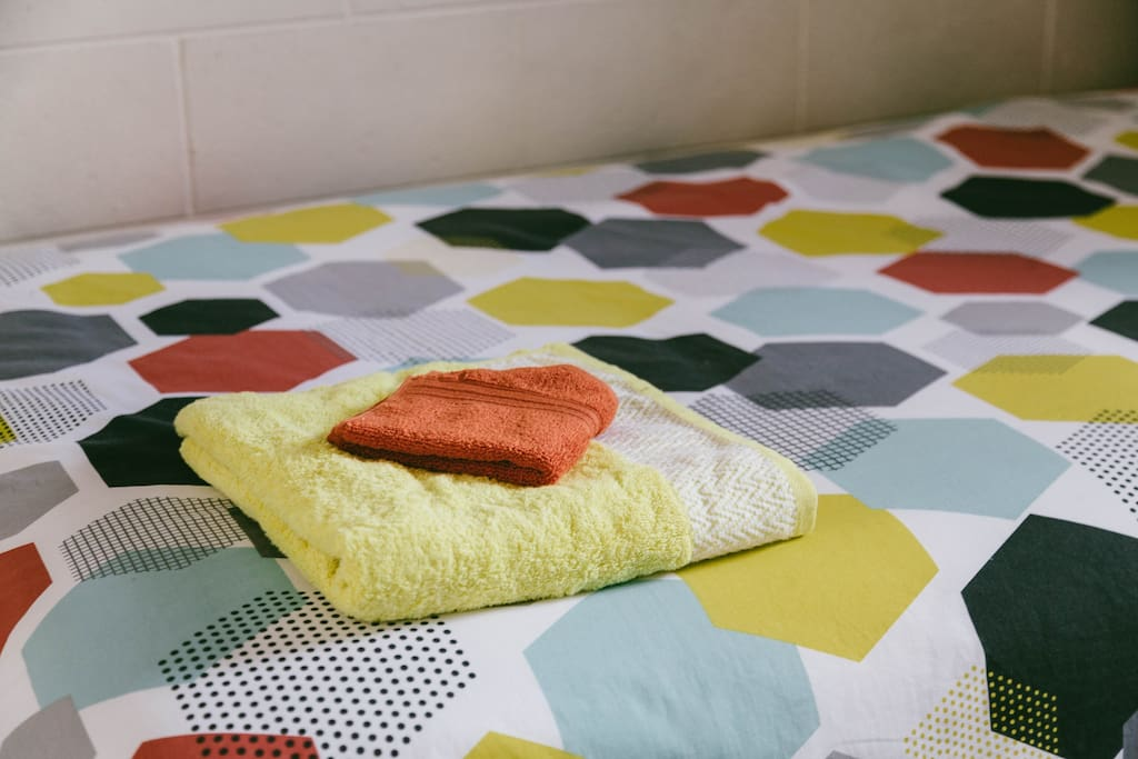 Fresh linen, quilt covers and towels are provided