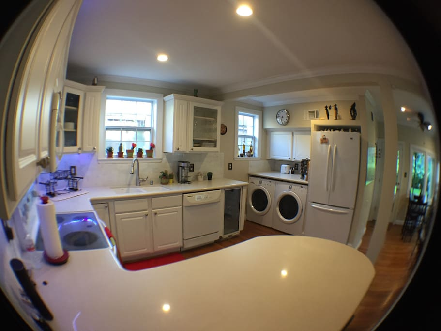 Kitchen equipped with all conveniences and fully stocked with all you need for your stay