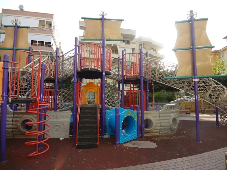 Playground just outside the building.