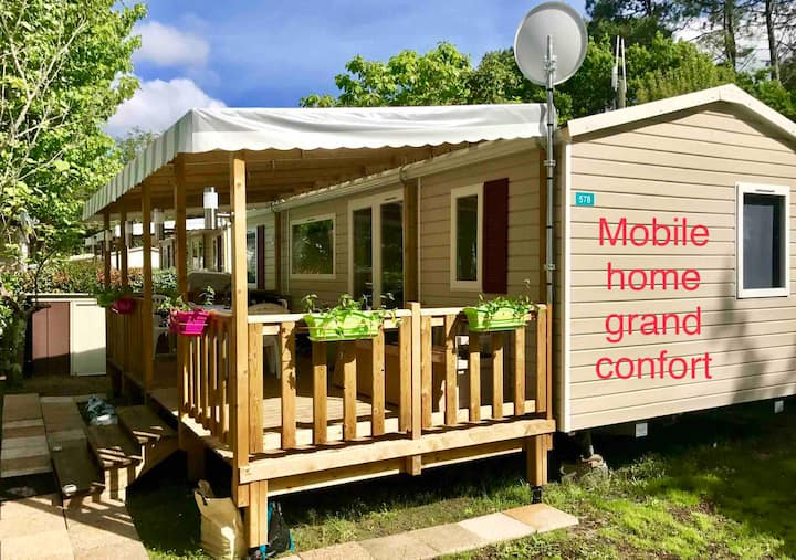 Rental Mobilhome air-conditioned, exceptional site