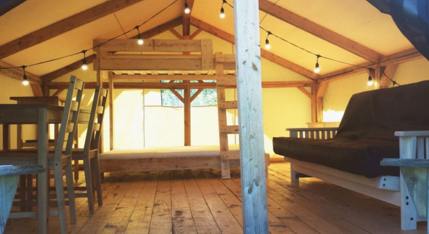 Goldenrod Tent-Cabin at Wild Woods Hideaway