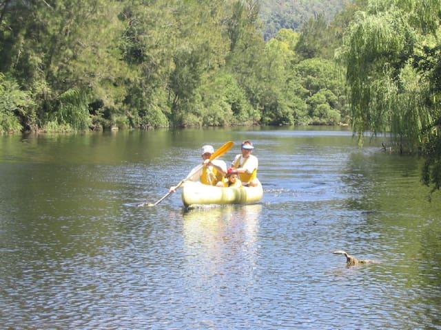 Canoeing Barrington River