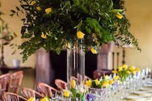 Wedding dinner inside Casale San Carlo