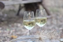 Enjoy the local wine from Adelaide Hills or McLaren Vale