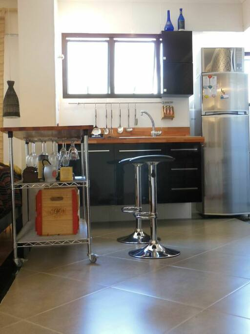 Cozinha integrada com a sala de estar