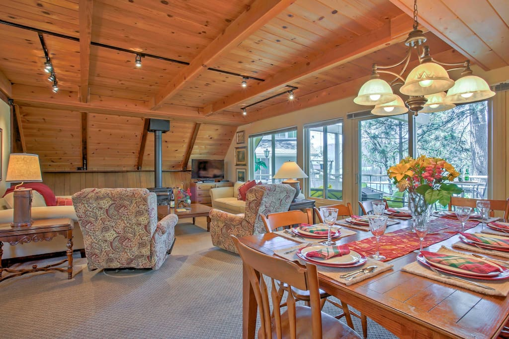 Spread out and relax in the 4-bedroom, 3-bathroom interior.