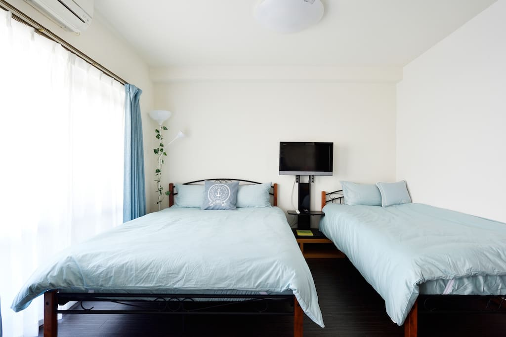 Room Ⅰ。 Double bed(140×200) 1. Single bed(100×200) 1.