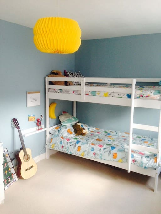 Bright and airy child friendly room sleeps two