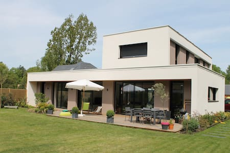 Maison contemporaine en bordure de forêt - Saint-Martin-de-Boscherville - House