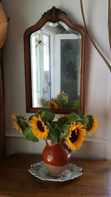 Sunflowers in the kitchen