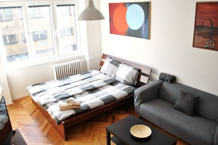 Central cozy private room, balcony, free parking - Praha - Διαμέρισμα