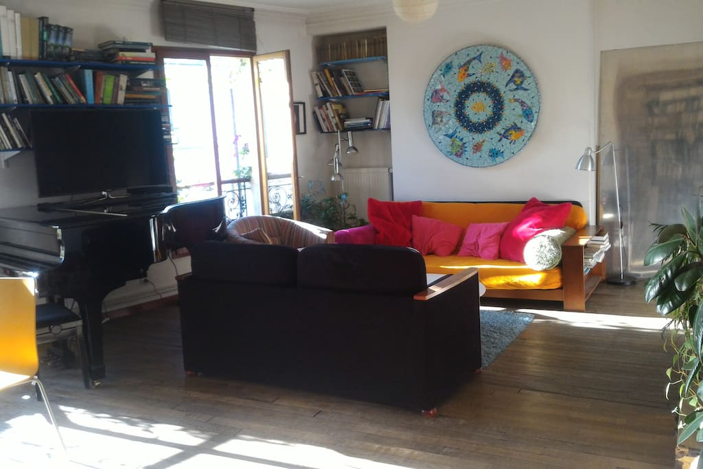 Living room in afternoon sun
