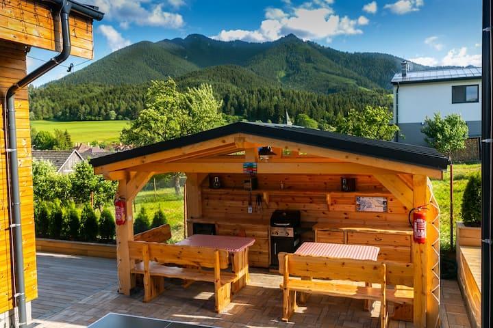 Novovybudované,drevené, mezonetové apartmány AP2