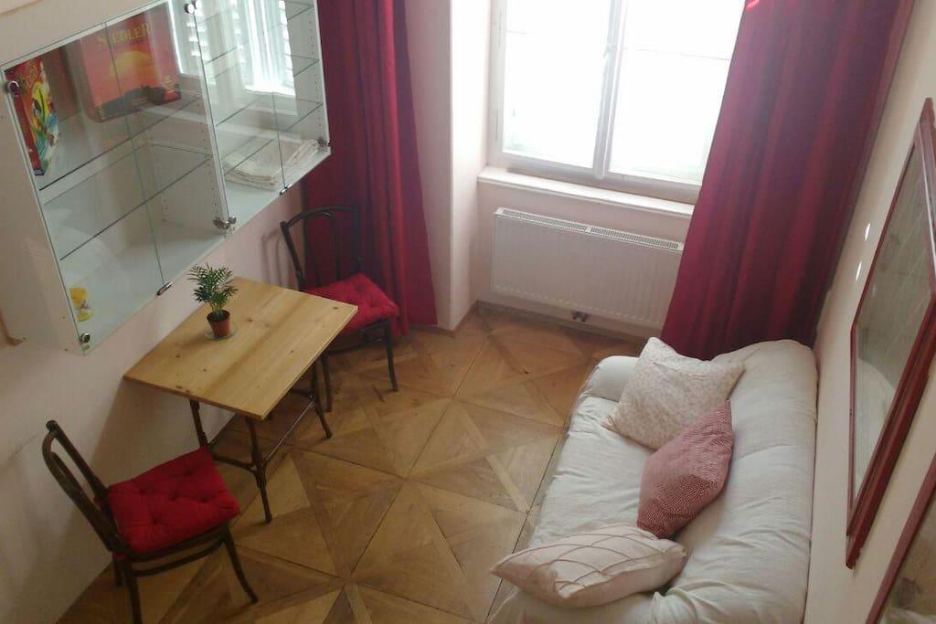 Zimmer 1 mit Doppel-Hochbett
