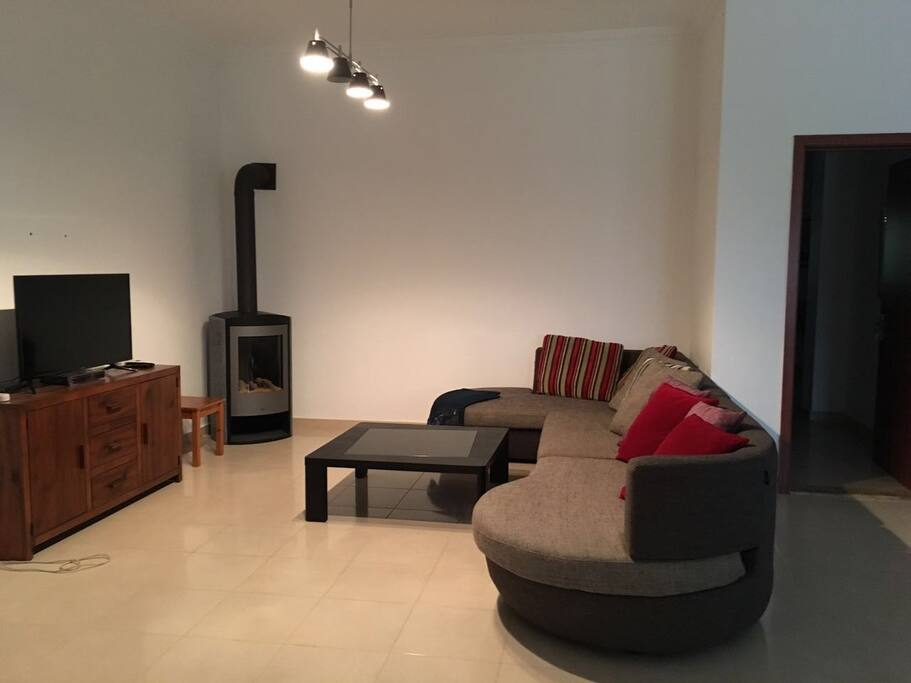 Fireplace and TV (Ground floor)