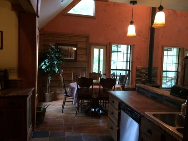 Open Kitchen to Dining to Living Area