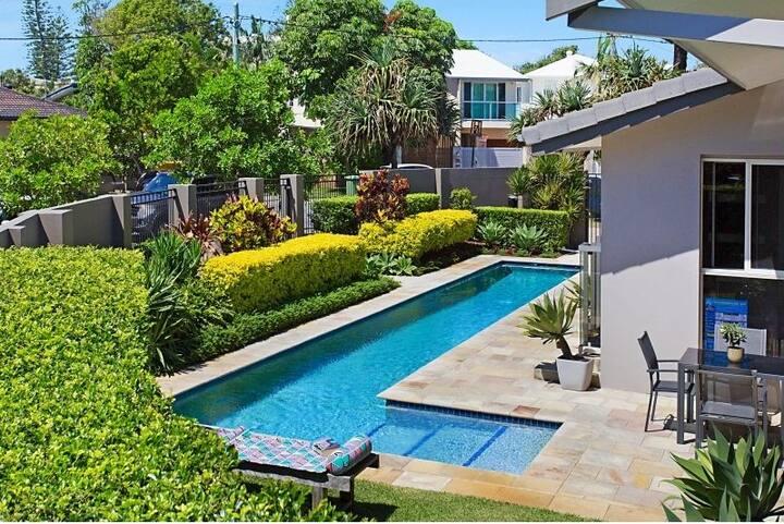 Miami Beachside House with Pool
