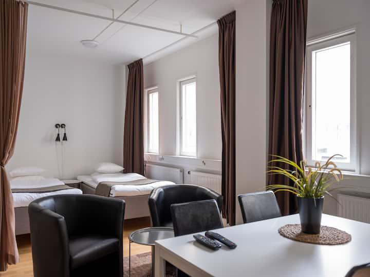 Studio apartment-kitchen-bath-TV-wifi-gym (439)