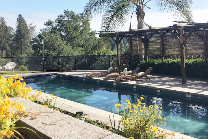 Sunny Home w/Pool near Beach & Santa Cruz