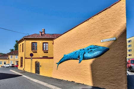 #Room in the Heart of Kampen: with a blue whale :) - Oslo - Haus