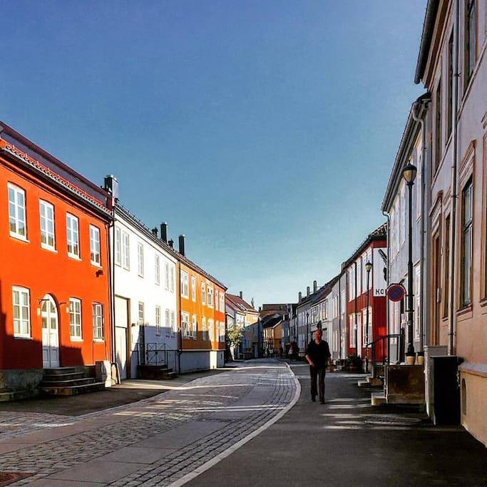 Bakklandet. Photo from just outside the apartmen