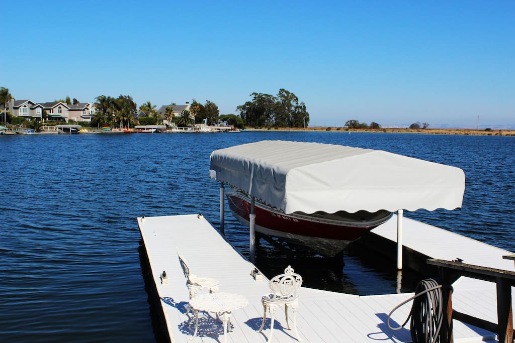 Enjoy your morning coffee on the dock!