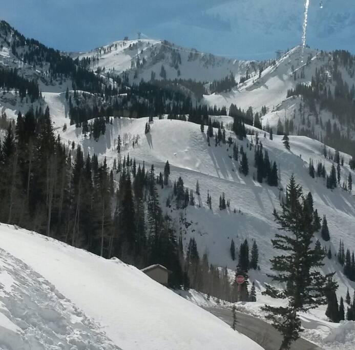 Snowbird view from Condo ]