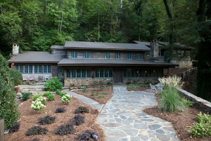 The Lodge at Mile 18 on the river - Dahlonega - Casa