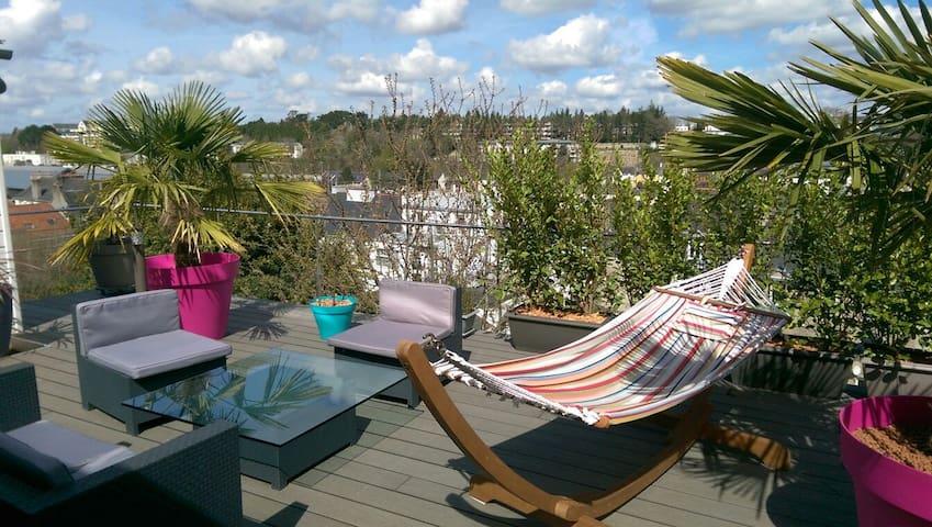 Chambre dans un duplex terrasse - Quimper - อพาร์ทเมนท์