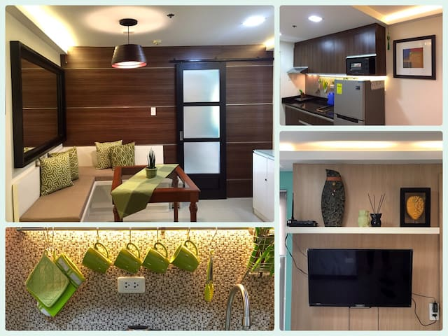City Center: 1BR Scandinavian Flat with balcony - Manila - Lägenhet