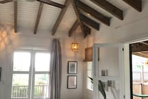 high ceilings with fans.  The farm hotel is located on top of a hill and the nights are fresh and cool and very comfortable.  we provide extra blankets (it gets cold at night!!)