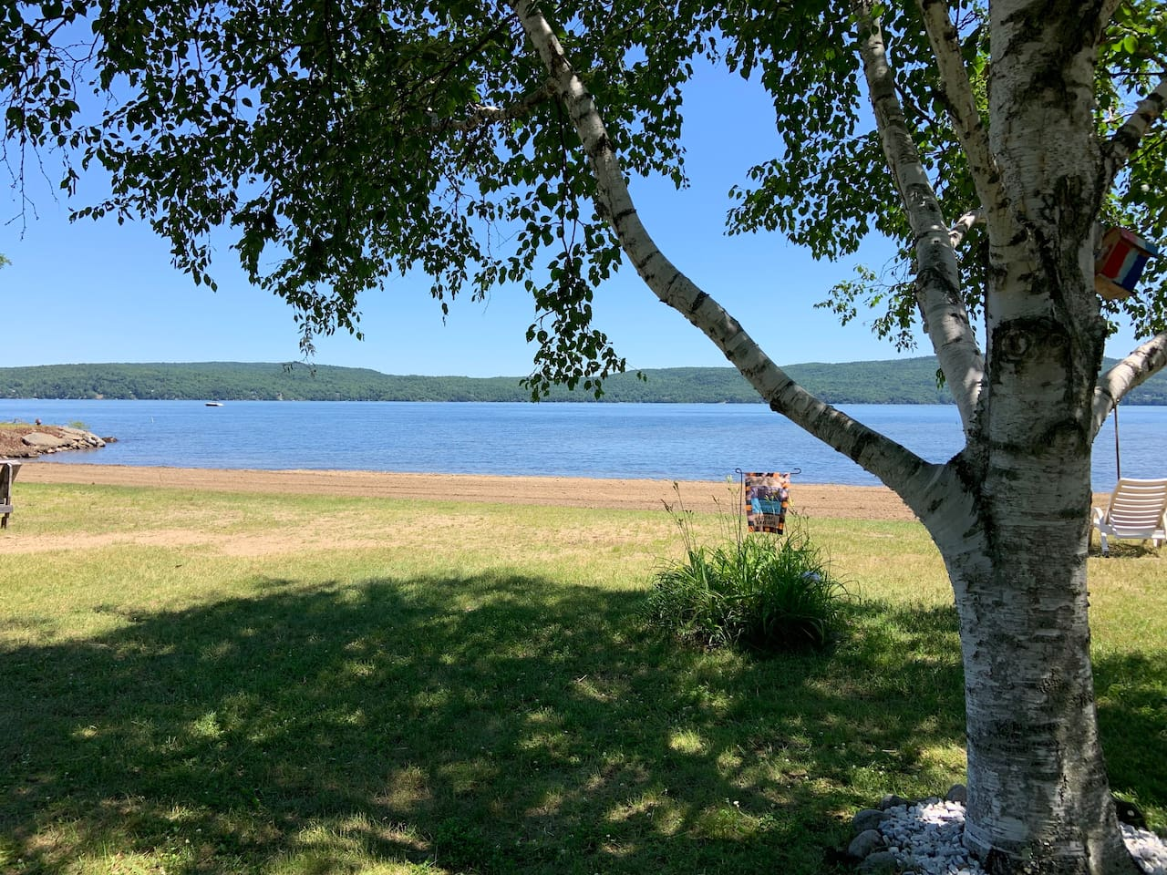 Welcome to beautiful Hague on Lake George. Enjoy the crystal clear waters of the Lake or hike up one of the many mountains in the area. Or just relax on our spacious beach out front.