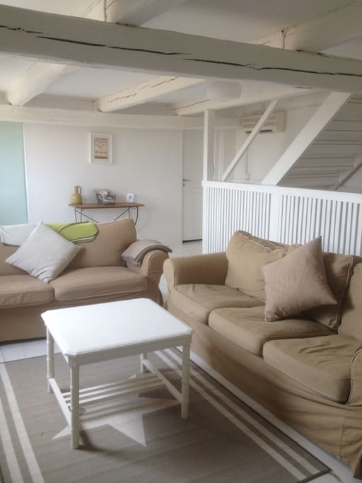Large comfortable lounge with great views over the rolling countryside