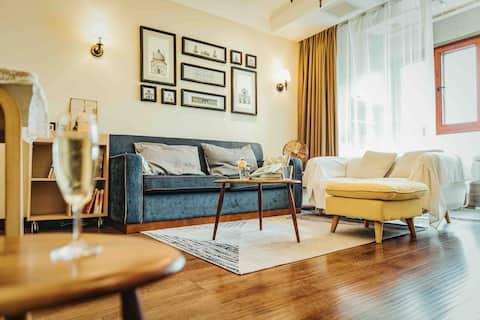 【陆月】市中心核心地段/CBD数码城超级温馨的质感公寓