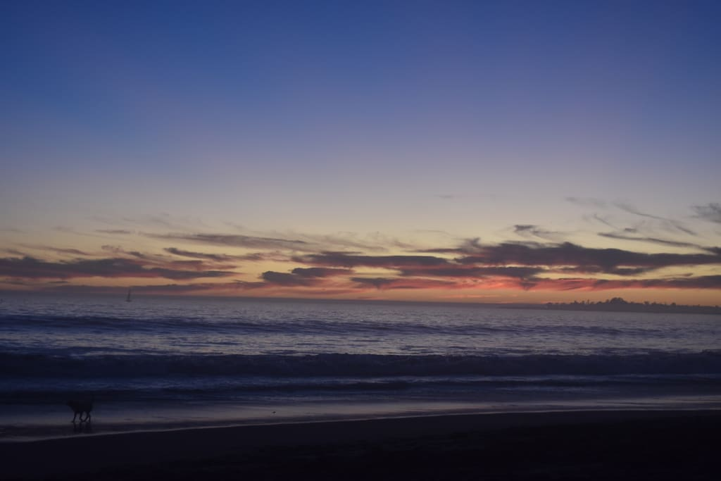 One of the stunning beach sunsets you'll see almost every night