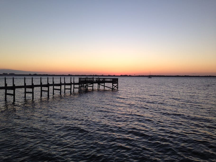 Watch a sunset from this pier on the intracoastal waterway. Just a 1/4 mile walk from the condo.