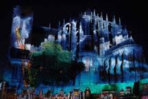 La cathédrale Saint Julien aux couleurs des chimères.