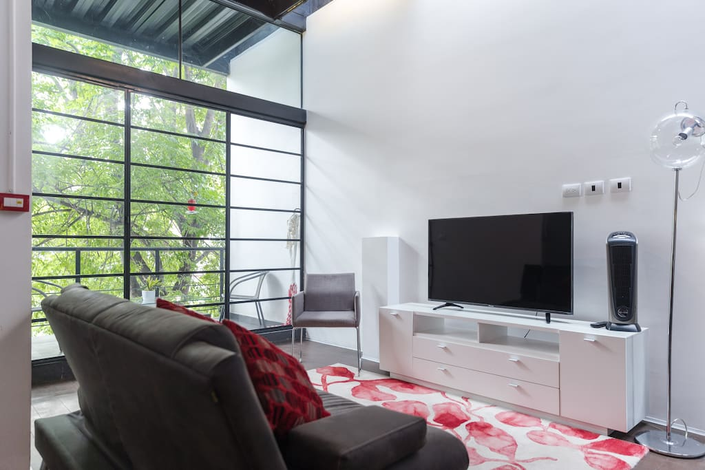 4K Tv with NETFLIX included.  Everything you might need for a great environment.
