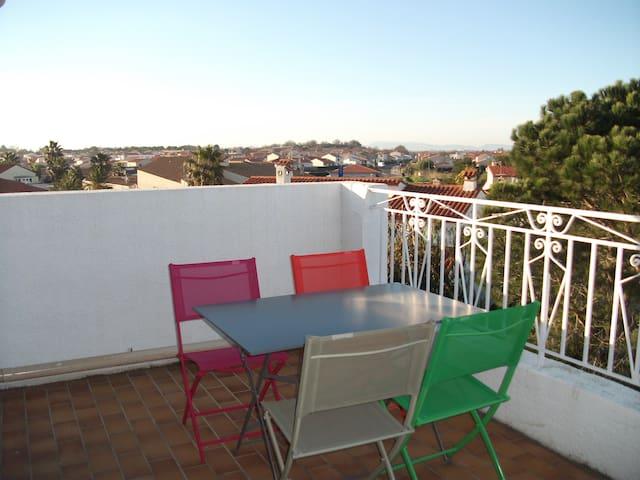 Bel appartement ensoleillé 2/4 personnes de 80m² - Latour-Bas-Elne - Apartemen