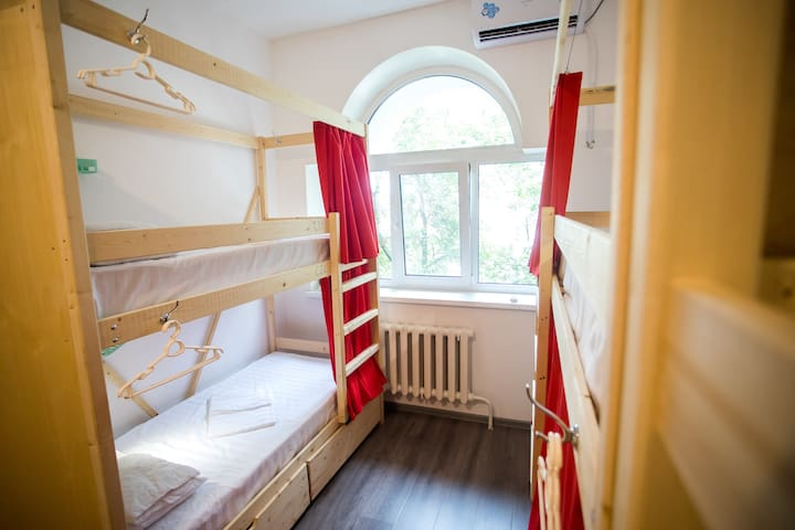 Bunk-bed in a dorm for 8 females in Tiger Hostel