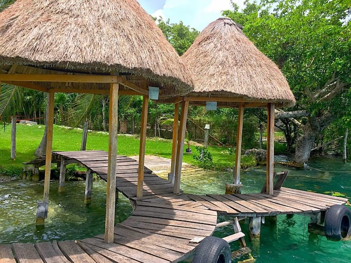 Cabaña Jalaal  en Xul-ha, Laguna de Bacalar