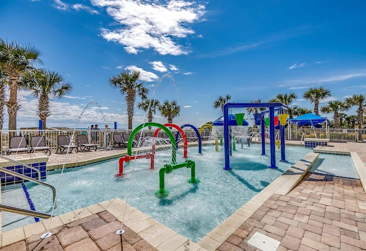 ★TOP RATED DUNES VILLAGE★♛KING Bed★Oceanfront★Indoor Water Park★B21