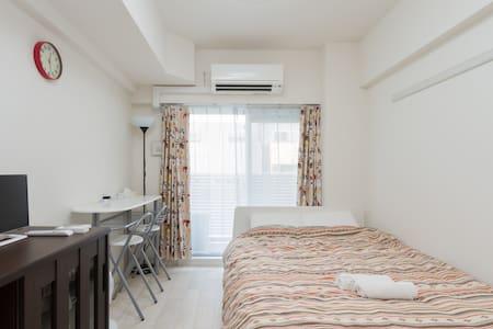 舒适的公寓单间,有Wi-Fi&洗衣机,梅田・天満近在咫尺,说走就走。 - Kita-ku, Ōsaka-shi