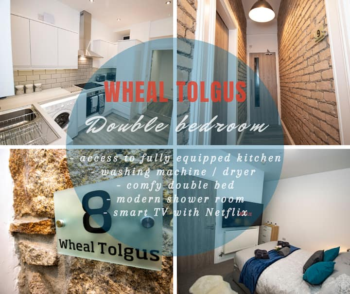 Wheal Tolgus - gorgeous ensuite bedroom with access to a stunning kitchen